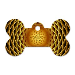 Swirling Dreams, Golden Dog Tag Bone (One Side)