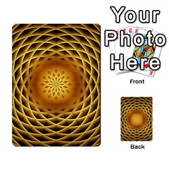 Swirling Dreams, Golden Multi Purpose Cards (rectangle)
