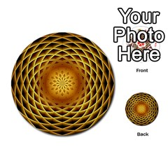 Swirling Dreams, Golden Multi-purpose Cards (Round)