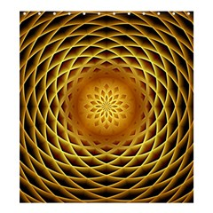 Swirling Dreams, Golden Shower Curtain 66  X 72  (large)