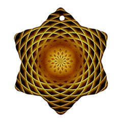 Swirling Dreams, Golden Snowflake Ornament (2 Side)