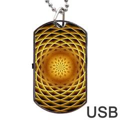 Swirling Dreams, Golden Dog Tag USB Flash (Two Sides)