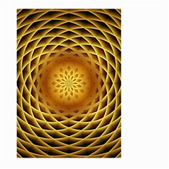 Swirling Dreams, Golden Large Garden Flag (Two Sides)