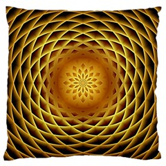 Swirling Dreams, Golden Large Cushion Cases (One Side)
