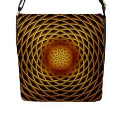 Swirling Dreams, Golden Flap Messenger Bag (L)