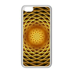 Swirling Dreams, Golden Apple iPhone 5C Seamless Case (White)