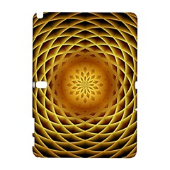Swirling Dreams, Golden Samsung Galaxy Note 10 1 (p600) Hardshell Case