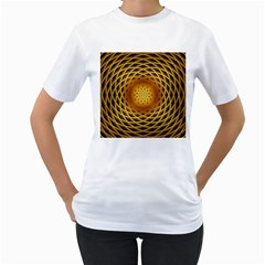 Swirling Dreams, Golden Women s T-Shirt (White)