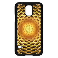 Swirling Dreams, Golden Samsung Galaxy S5 Case (Black)