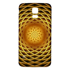 Swirling Dreams, Golden Samsung Galaxy S5 Back Case (White)