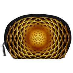 Swirling Dreams, Golden Accessory Pouches (Large)