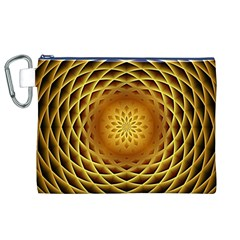 Swirling Dreams, Golden Canvas Cosmetic Bag (XL)