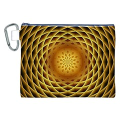 Swirling Dreams, Golden Canvas Cosmetic Bag (XXL)