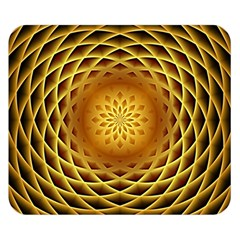 Swirling Dreams, Golden Double Sided Flano Blanket (small)