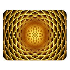 Swirling Dreams, Golden Double Sided Flano Blanket (Large)