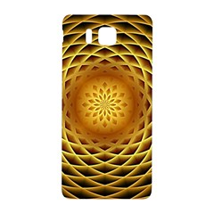 Swirling Dreams, Golden Samsung Galaxy Alpha Hardshell Back Case