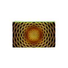 Swirling Dreams, Golden Cosmetic Bag (xs)
