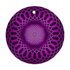 Swirling Dreams, Hot Pink Ornament (Round)