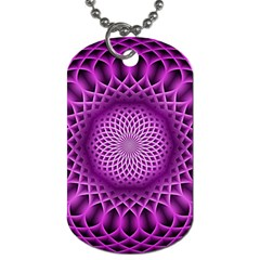 Swirling Dreams, Hot Pink Dog Tag (One Side)