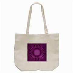 Swirling Dreams, Hot Pink Tote Bag (Cream)