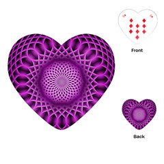 Swirling Dreams, Hot Pink Playing Cards (heart)