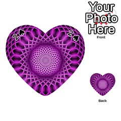 Swirling Dreams, Hot Pink Playing Cards 54 (heart)