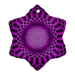 Swirling Dreams, Hot Pink Ornament (Snowflake)