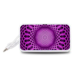 Swirling Dreams, Hot Pink Portable Speaker (White)