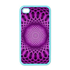 Swirling Dreams, Hot Pink Apple iPhone 4 Case (Color)