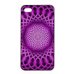 Swirling Dreams, Hot Pink Apple Iphone 4/4s Seamless Case (black)