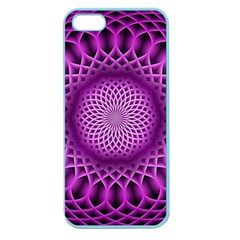 Swirling Dreams, Hot Pink Apple Seamless iPhone 5 Case (Color)