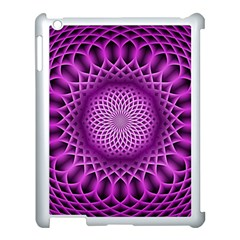 Swirling Dreams, Hot Pink Apple iPad 3/4 Case (White)