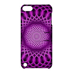 Swirling Dreams, Hot Pink Apple iPod Touch 5 Hardshell Case with Stand