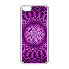 Swirling Dreams, Hot Pink Apple Iphone 5c Seamless Case (white)