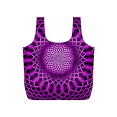 Swirling Dreams, Hot Pink Full Print Recycle Bags (S)