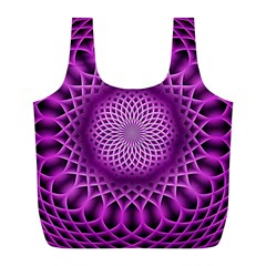 Swirling Dreams, Hot Pink Full Print Recycle Bags (l)