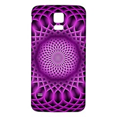 Swirling Dreams, Hot Pink Samsung Galaxy S5 Back Case (White)