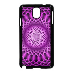 Swirling Dreams, Hot Pink Samsung Galaxy Note 3 Neo Hardshell Case (black)