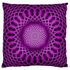 Swirling Dreams, Hot Pink Large Flano Cushion Cases (One Side)