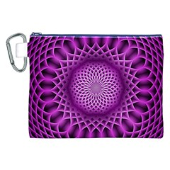 Swirling Dreams, Hot Pink Canvas Cosmetic Bag (XXL)