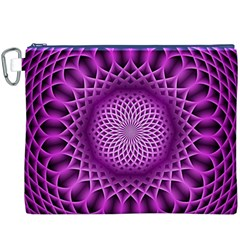 Swirling Dreams, Hot Pink Canvas Cosmetic Bag (XXXL)