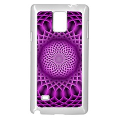 Swirling Dreams, Hot Pink Samsung Galaxy Note 4 Case (White)