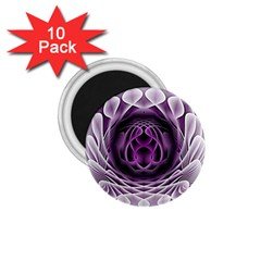 Swirling Dreams, Purple 1.75  Magnets (10 pack)