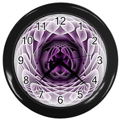 Swirling Dreams, Purple Wall Clocks (Black)