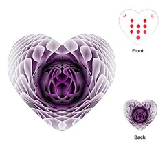 Swirling Dreams, Purple Playing Cards (Heart)