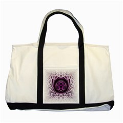Swirling Dreams, Purple Two Tone Tote Bag