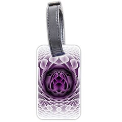 Swirling Dreams, Purple Luggage Tags (One Side)