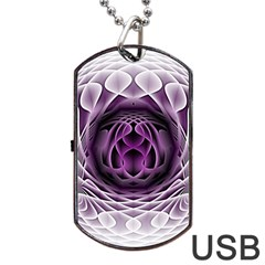 Swirling Dreams, Purple Dog Tag Usb Flash (two Sides)