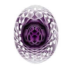 Swirling Dreams, Purple Oval Filigree Ornament (2 Side)