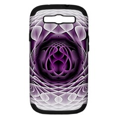 Swirling Dreams, Purple Samsung Galaxy S III Hardshell Case (PC+Silicone)